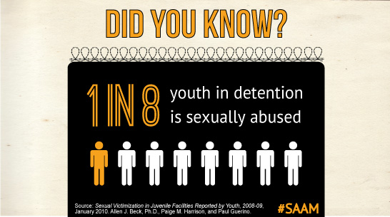 1 in 9 youth sex. abused in prison